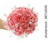 bouquet of pink carnations - stock photo