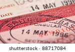 british visa stamp in your... | Shutterstock . vector #88717084
