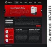 red gray website design template | Shutterstock .eps vector #88718956