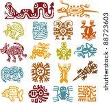 Set - mexican symbols