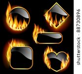 set of frames  with flames of... | Shutterstock .eps vector #88730896