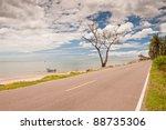 coastal road in thailand. | Shutterstock . vector #88735306