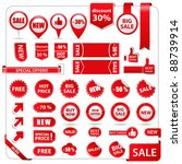vector sale tags | Shutterstock .eps vector #88739914