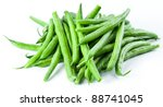 green beans isolated on a white ... | Shutterstock . vector #88741045