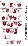advent calendar isolated on...   Shutterstock . vector #88745722