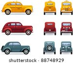 retro cars  1930 40th . set of... | Shutterstock .eps vector #88748929