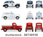emergency services  1930 40th . ... | Shutterstock .eps vector #88748938