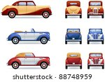 retro luxury cars  1930 40th .... | Shutterstock .eps vector #88748959