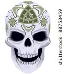 skull a symbol of death with... | Shutterstock .eps vector #88753459