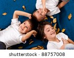three kids   6 and 4 year old   ... | Shutterstock . vector #88757008