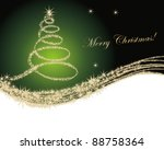 christmas tree background | Shutterstock .eps vector #88758364