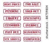 grunge rubber stamps | Shutterstock .eps vector #88759804