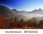 autumn view to berchtesgaden...   Shutterstock . vector #88760026