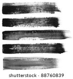 abstract painted ink strokes... | Shutterstock . vector #88760839