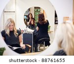 situation in a hair salon | Shutterstock . vector #88761655