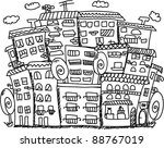 art houses for your design | Shutterstock .eps vector #88767019