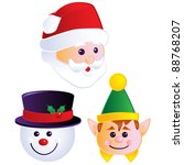 christmas heads | Shutterstock .eps vector #88768207