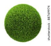 grass ball isolated on white... | Shutterstock . vector #88769974