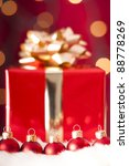 red baubles in foreground  a... | Shutterstock . vector #88778269