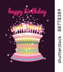 happy birthday vector design | Shutterstock .eps vector #88778389