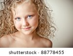 little cute blonde baby with... | Shutterstock . vector #88778455
