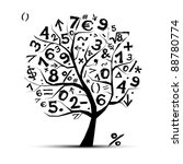 Art Tree With Math Symbols For...