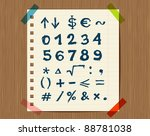 sheet with sketch of math...