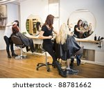 situation in a hair salon | Shutterstock . vector #88781662