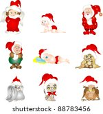 set of christmas characters   Shutterstock . vector #88783456