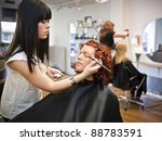 make up situation in a beauty... | Shutterstock . vector #88783591