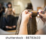 situation in a hair salon close ... | Shutterstock . vector #88783633