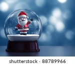 3d Render Of Snow Globe With...