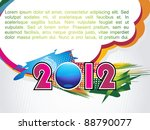 2012 happy new year greeting... | Shutterstock .eps vector #88790077