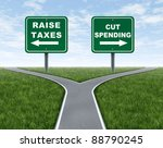 raising taxes or cutting... | Shutterstock . vector #88790245