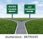 raising taxes or cutting... | Shutterstock . vector #88790245