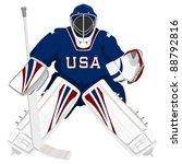team usa hockey goalie | Shutterstock .eps vector #88792816