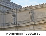 Small photo of Pindar, Aeschylus, Sophocles; top of Brooklyn Museum; 19th century statues by Daniel Chester French