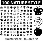 100 nature   ecology icons set  ... | Shutterstock .eps vector #88802572