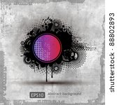 grunge stylish banners with... | Shutterstock .eps vector #88802893