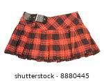 red rumpled checkered short... | Shutterstock . vector #8880445