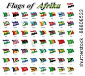 flags of africa | Shutterstock . vector #88808533