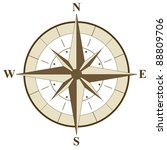 compass rose illustration | Shutterstock .eps vector #88809706