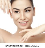 portrait of attractive  asian... | Shutterstock . vector #88820617