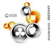 vector gambling composition. | Shutterstock .eps vector #88830469