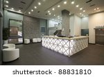 interior of a hotel reception ...   Shutterstock . vector #88831810