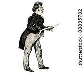 the french gentleman   vintage...   Shutterstock .eps vector #88835782