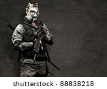 portrait of young soldier with... | Shutterstock . vector #88838218