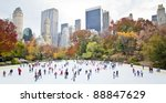 Ice Skaters Having Fun In New...