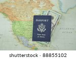 blue american passport filled...