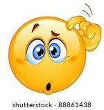 confused emoticon | Shutterstock .eps vector #88861438